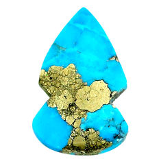 Natural 20.10cts turquoise pyrite blue 31x18 mm arrow loose gemstone s21818