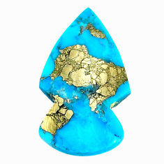 Natural 20.10cts turquoise pyrite blue 31x18 mm arrow loose gemstone s21819