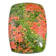 Natural 36.25cts unakite green cabochon 29x21 mm octagan loose gemstone s21074