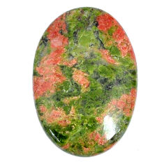 Natural 27.45cts unakite green cabochon 30x20 mm oval loose gemstone s21077