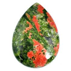 Natural 28.10cts unakite green cabochon 31x21 mm pear loose gemstone s21064