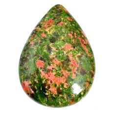 Natural 30.85cts unakite green cabochon 32x22 mm pear loose gemstone s21063