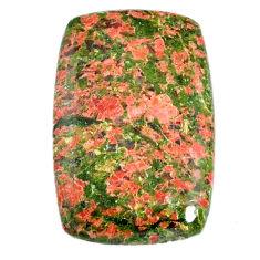 Natural 38.20cts unakite green cabochon 33x22 mm octagan loose gemstone s21073