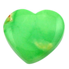 Natural 6.30cts variscite green cabochon 15x13.5 mm heart loose gemstone s17897