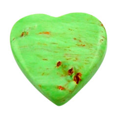 Natural 7.10cts variscite green cabochon 15x15 mm heart loose gemstone s17895
