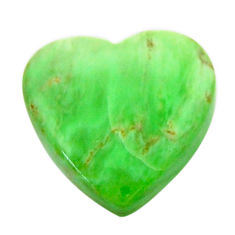 Natural 7.40cts variscite green cabochon 15x15 mm heart loose gemstone s17898