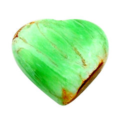 Natural 8.25cts variscite green cabochon 16x15 mm heart loose gemstone s17888
