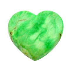 Natural 8.10cts variscite green cabochon 16x15 mm heart loose gemstone s17890