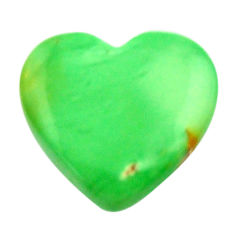 Natural 6.30cts variscite green cabochon 16x15 mm heart loose gemstone s17891