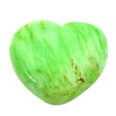 Natural 10.45cts variscite green cabochon 17x15 mm heart loose gemstone s17886