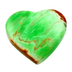 Natural 10.30cts variscite green cabochon 17x15 mm heart loose gemstone s17896
