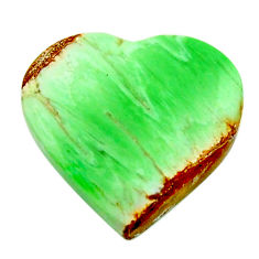 Natural 9.35cts variscite green cabochon 17x16.5 mm heart loose gemstone s17882
