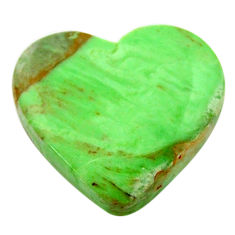 Natural 12.40cts variscite green cabochon 18x17 mm heart loose gemstone s17899