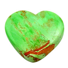 Natural 11.40cts variscite green cabochon 19x17 mm heart loose gemstone s17883