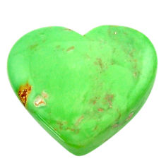 Natural 14.35cts variscite green cabochon 20x17.5 mm heart loose gemstone s17892