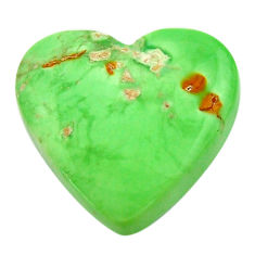 Natural 16.30cts variscite green cabochon 20x19 mm heart loose gemstone s17881