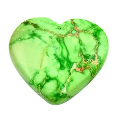 Natural 18.10cts variscite green cabochon 22.5x21 mm heart loose gemstone s17887