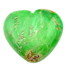 Natural 19.35cts variscite green cabochon 22x20 mm heart loose gemstone s17900