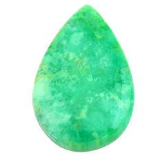 Natural 14.20cts variscite green cabochon 26x16 mm pear loose gemstone s22972