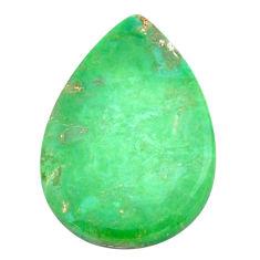 Natural 14.45cts variscite green cabochon 26x17.5 mm pear loose gemstone s22979