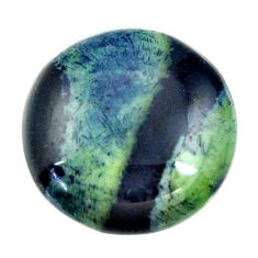 vivianite blue cabochon 21x21 mm oval loose gemstone s16362