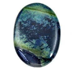 Natural 16.30cts vivianite blue cabochon 26x18 mm oval loose gemstone s16356