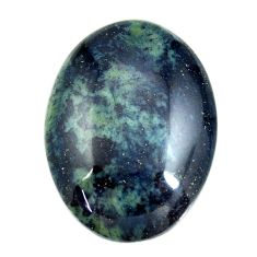 Natural 22.40cts vivianite blue cabochon 27.5x20 mm oval loose gemstone s16373