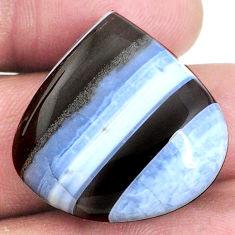30.35cts owyhee opal blue 26x26 mm heart loose gemstone s21116