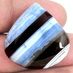 36.60cts owyhee opal blue 28x28 mm heart loose gemstone s21117