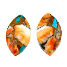 16.30cts pair spiny oyster arizona turquoise 20x11 mm loose gemstone s16806