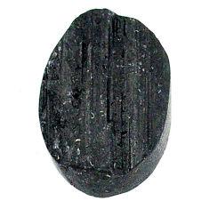Raw black tourmaline protection stone 20x14 mm loose gemstone s22522