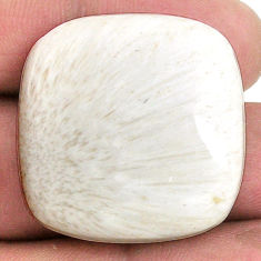 40.25cts scolecite high vibration cabochon 28x28mm cushion loose gemstone s20987