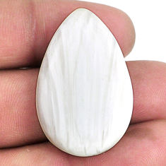 32.15cts scolecite high vibration crystal 34x21.5 mm pear loose gemstone s20986