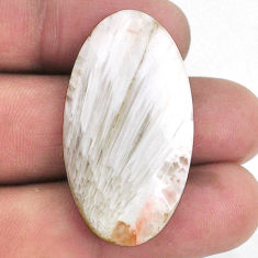 25.15cts scolecite high vibration crystal 38x20 mm oval loose gemstone s21000