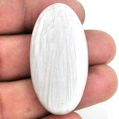 40.20cts scolecite high vibration crystal 43x22 mm oval loose gemstone s20993
