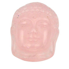 Shakyamuni buddha face 15.10cts rose quartz pink 20x15 mm loose gemstone s18261