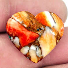 yster arizona turquoise 23.5x21 mm heart loose gemstone s17178