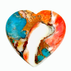 yster arizona turquoise 25x23.5 mm heart loose gemstone s17195