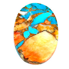 24.45cts spiny oyster arizona turquoise cabochon 28x19 mm loose gemstone s22356