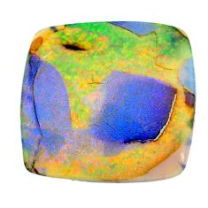 6.60cts sterling opal multicolor cabochon 22x22 mm cushion loose gemstone s22554
