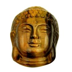 17.35cts tiger's eye shakyamuni buddha face 22x15.5 mm loose gemstone s18280