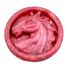 Unicorn 38.45cts rhodonite in black manganese pink 30x30mm loose gemstone s18340