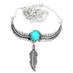 925 silver 3.97cts dreamcatcher natural green peruvian amazonite necklace p41974