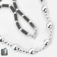 925 STERLING SILVER FRENCH DESIGNER ROPE NECKLACE TRENDY CHAIN JEWELRY G7244