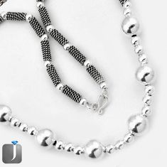 925 STERLING SILVER FRENCH DESIGNER ROPE NECKLACE TRENDY CHAIN JEWELRY G7248
