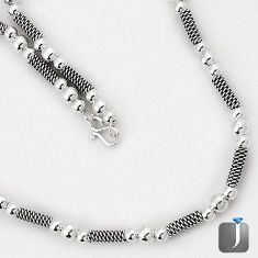 925 STERLING SILVER FRENCH DESIGNER ROPE NECKLACE TRENDY CHAIN JEWELRY G7260