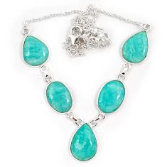 925 sterling silver natural green amazonite (hope stone) necklace jewelry j10331