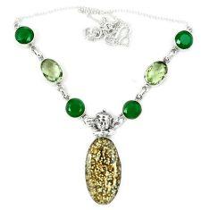 925 silver natural multicolor ocean sea jasper (madagascar) necklace j36987