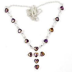 925 sterling silver holy cross multi color ametrine (lab) necklace jewelry j6875