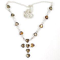 Multi color ametrine (lab) 925 sterling silver cross necklace jewelry j6876
